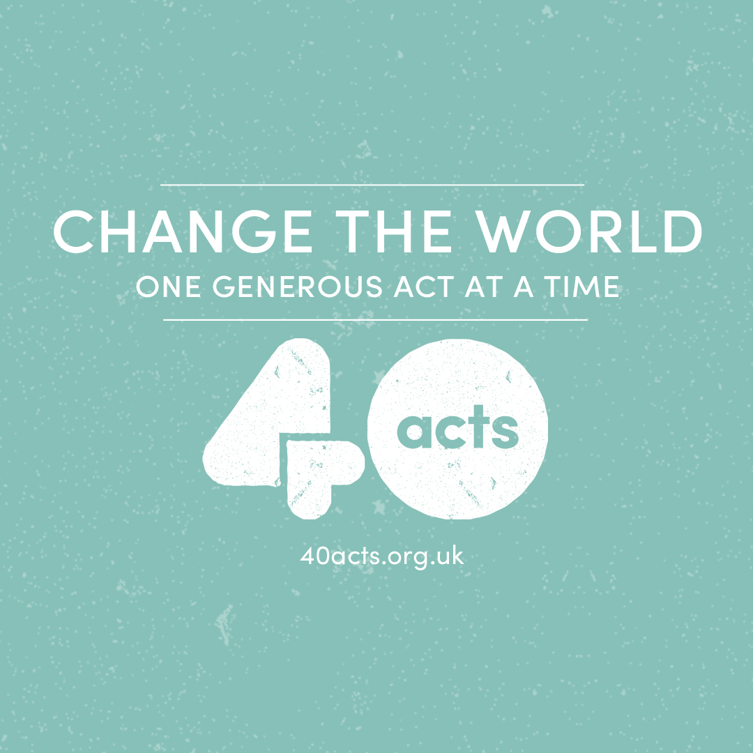 Share #40acts on Instagram