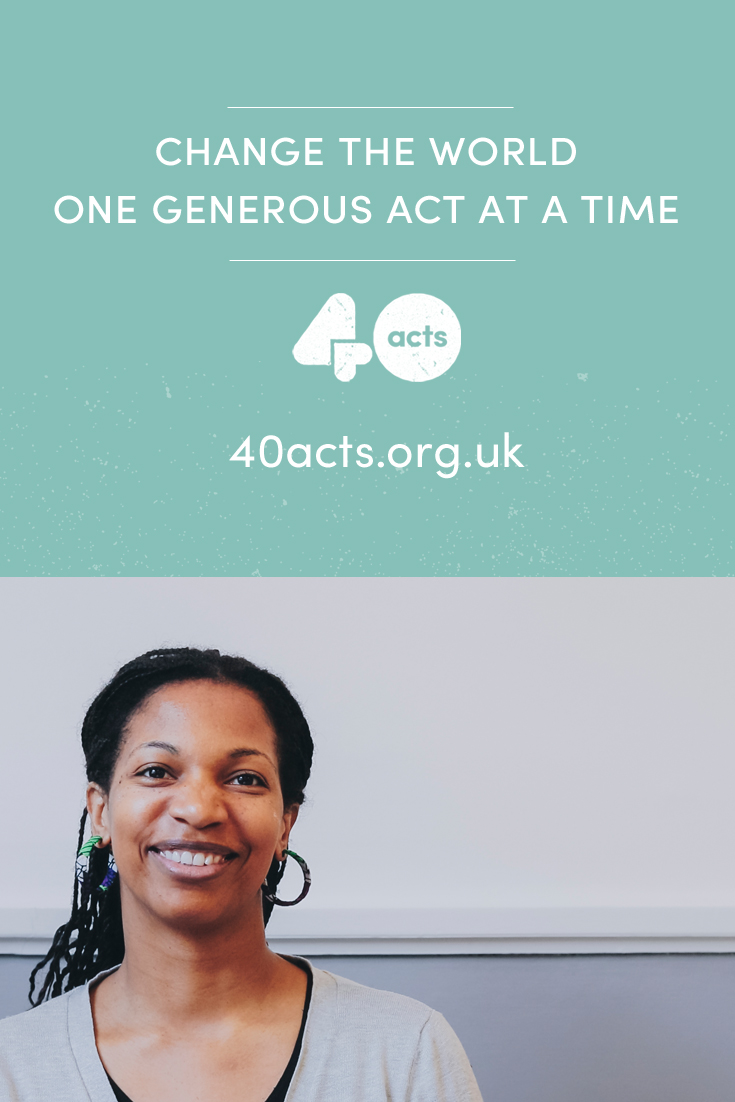 Sign up to do Lent generously with 40acts!